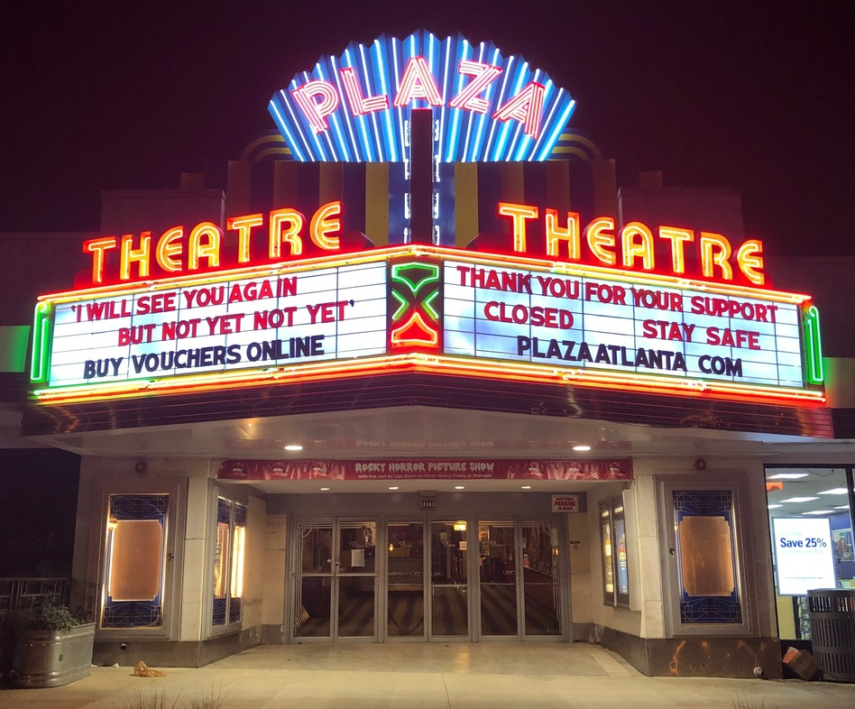 """In Georgia, Gov. Brian Kemp has authorized the opening of theaters, but Chris Escobar, owner of the <a href=""""https://plazaatlanta.com/"""">Plaza Theatre</a> in Atlanta, won't be unlocking the doors quite yet. """"I'm not forcing my employees to choose between their livelihoods and their lives,"""" he says. (CJ Swank/Plaza Theatre)"""