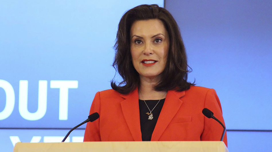 Michigan's Republican-led Legislature says Gov. Gretchen Whitmer is overstepping her authority by restricting businesses and other activities in response to the COVID-19 pandemic. Both the governor and the state's attorney general disagree. (Michigan Office of the Governor/via AP)