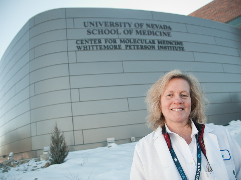 In 2011, Judy Mikovits was fired from the Whittemore Peterson Institute for Neuro-Immune Disease, in Reno, Nev. She was then accused of stealing notebooks and a computer. (David Calvert/AP)