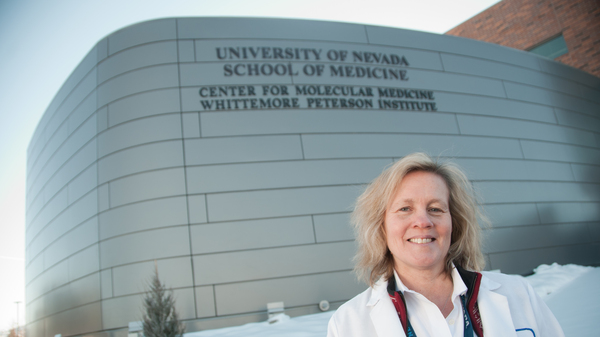 Dr. Judy A. Mikovits shown outside the Whittemore Peterson Institute for Neuro-Immune Disease, in Reno, Nevada, in 2011. Mikovits makes a number of questionable claims in a newly viral conspiracy video.