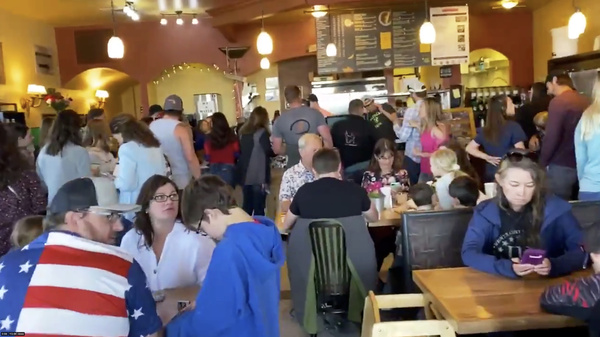 Large numbers of customers celebrate Mother