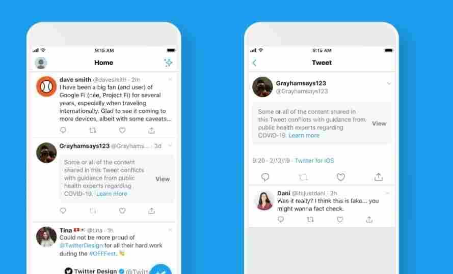 Twitter Now Labels 'Potentially Harmful' Coronavirus Tweets 2