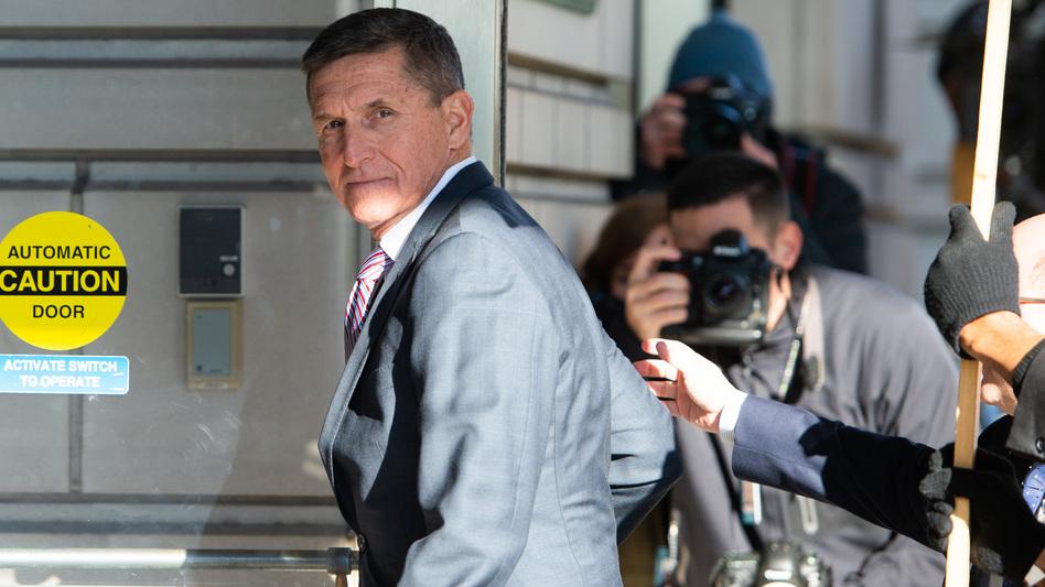 Former national security adviser Michael Flynn arrives at U.S. District Court in Washington, D.C., in 2018. (Saul Loeb/AFP via Getty Images)