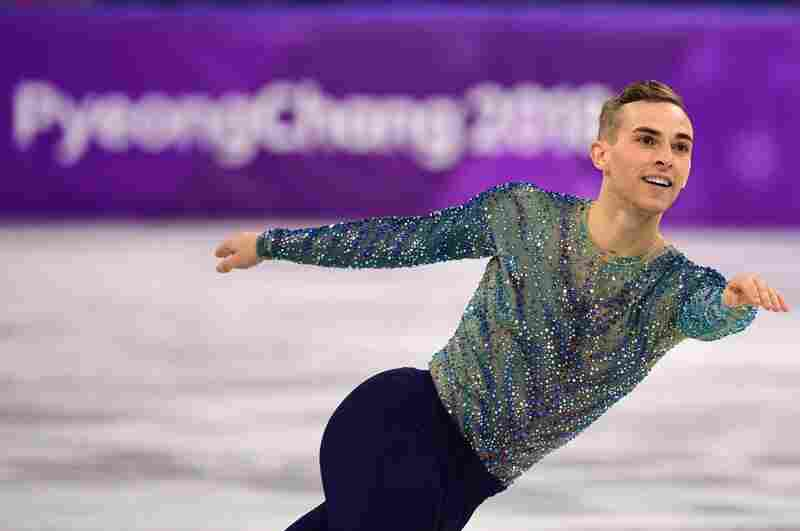 Adam Rippon competes  during the 2018 Winter Olympic Games at the Gangneung Ice Arena on Feb. 17, 2018.