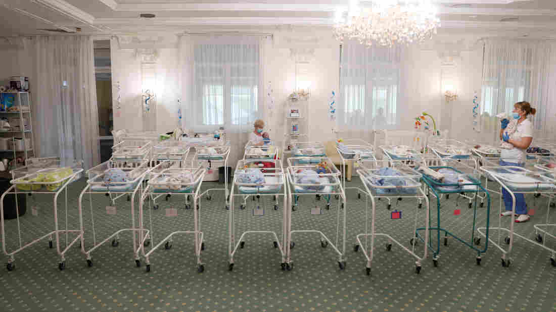 Almost 50 surrogate babies crammed into Ukraine hotel amid coronavirus