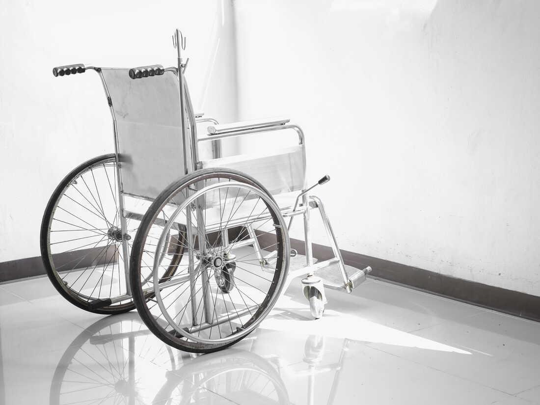 Wheelchair Against White Background