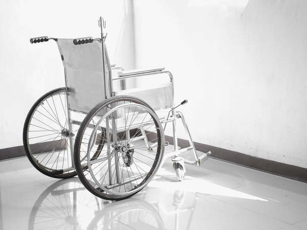 Wheelchair Against White Background