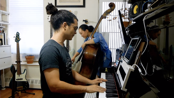 Bassist Linda May Han Oh and pianist Fabian Almazan perform at home.