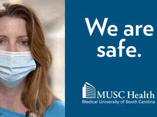An ad that's part of the Medical University of South Carolina's COVID-19 campaign.