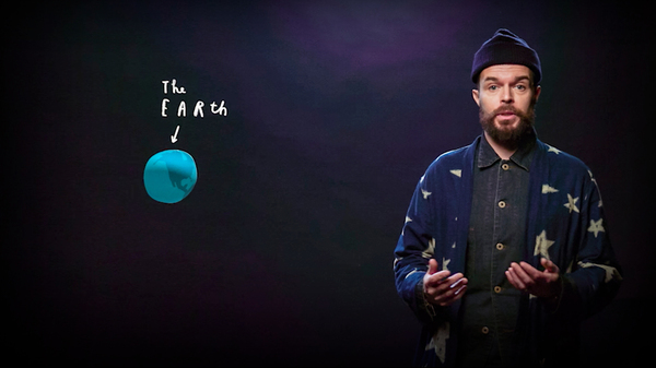 Oliver Jeffers speaks as part of TED2020: The Prequel. April 22, 2020. Photo courtesy of TED.