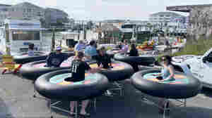 Maryland Restaurant Floats Social Distancing Dining Plan: Inner Tube Tables