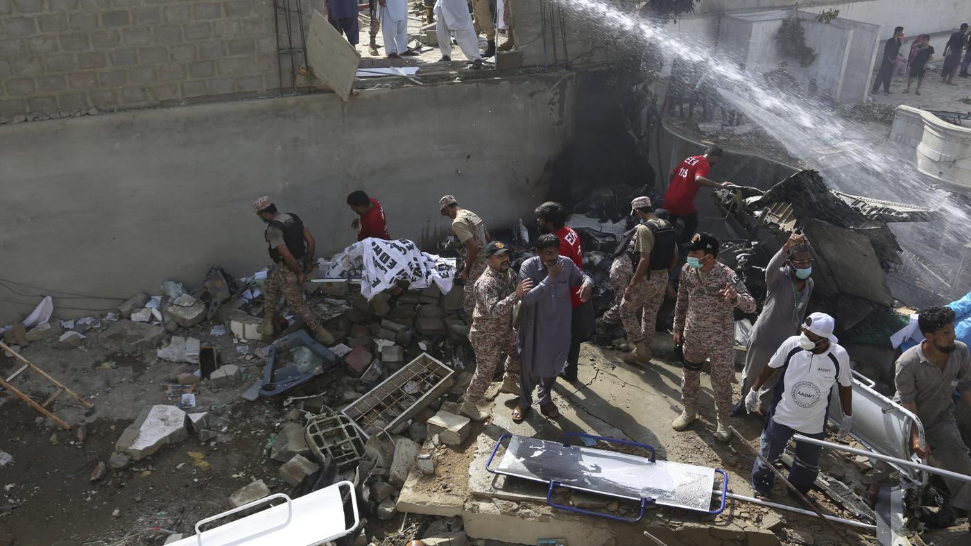 Mass Casualties Expected After Passenger Jet Crashes In Karachi, Pakistan : NPR