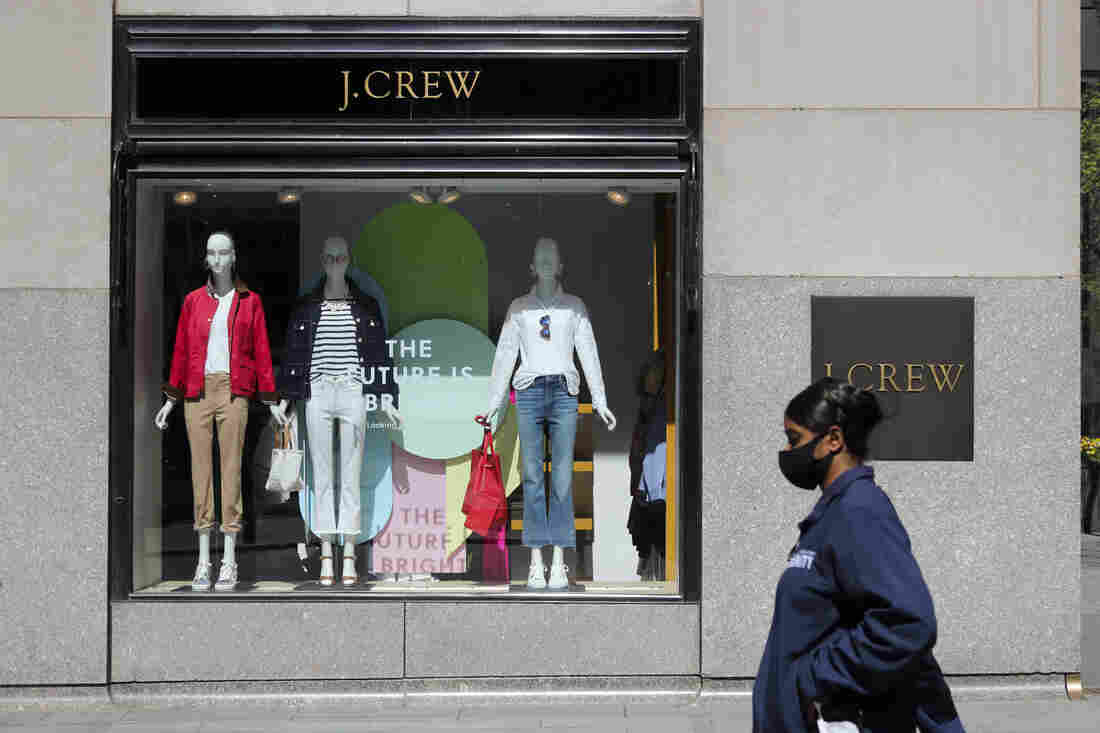 NEW YORK, May 4, 2020 — A pedestrian walks past a J.Crew store in Manhattan of New York, the United States, May 4, 2020 (Photo by Wang Ying/Xinhua via Getty) (Xinhua/Wang Ying via Getty Images)