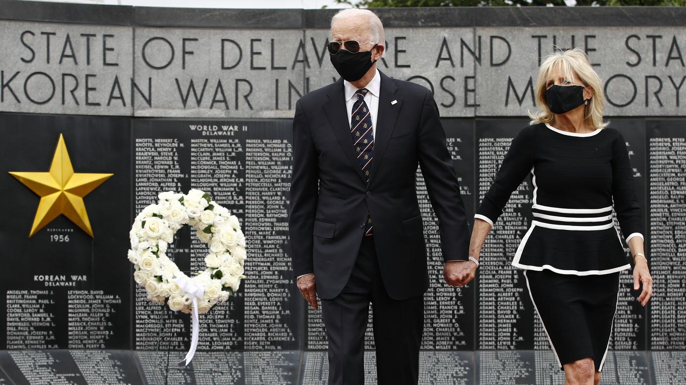 Biden Commemorates Memorial Day In First Outing Amid Coronavirus Pandemic  : Coronavirus Live Updates : NPR