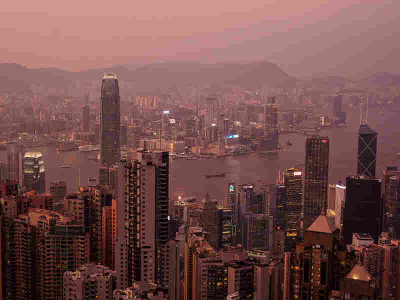 View of Hong Kong and Victoria Harbor, Aug. 28, 2019.
