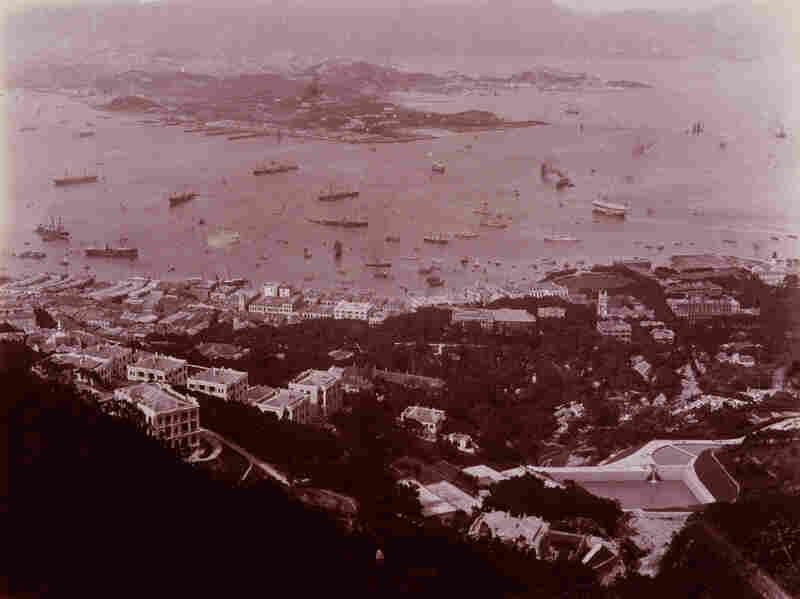 View of Hong Kong and Victoria Harbor, 1880.