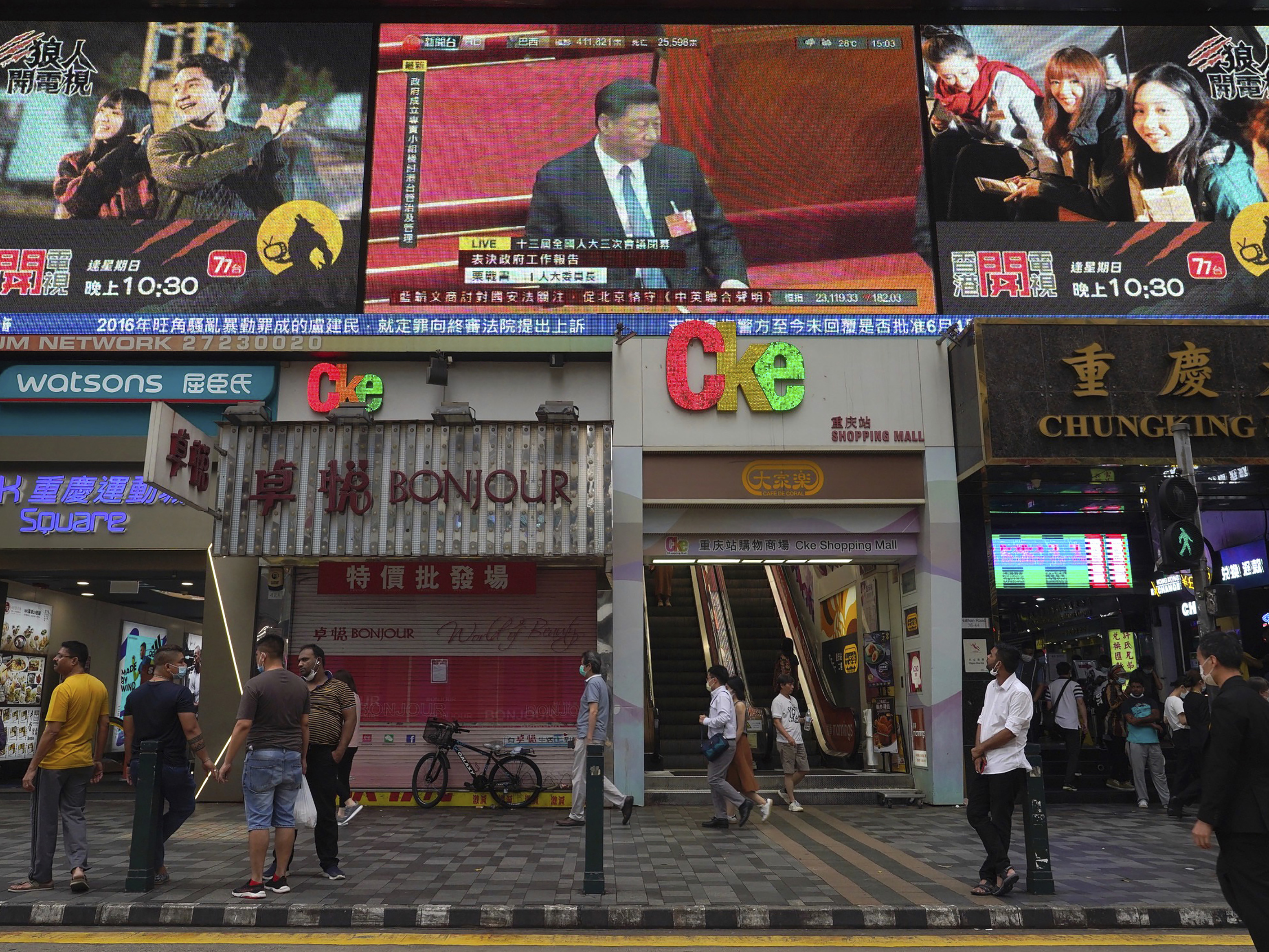 Chinese lawmakers endorse Hong Kong national security law