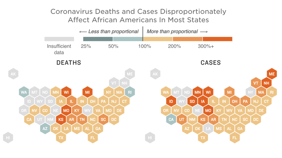 What Do Coronavirus Racial Disparities Look Like State By State?