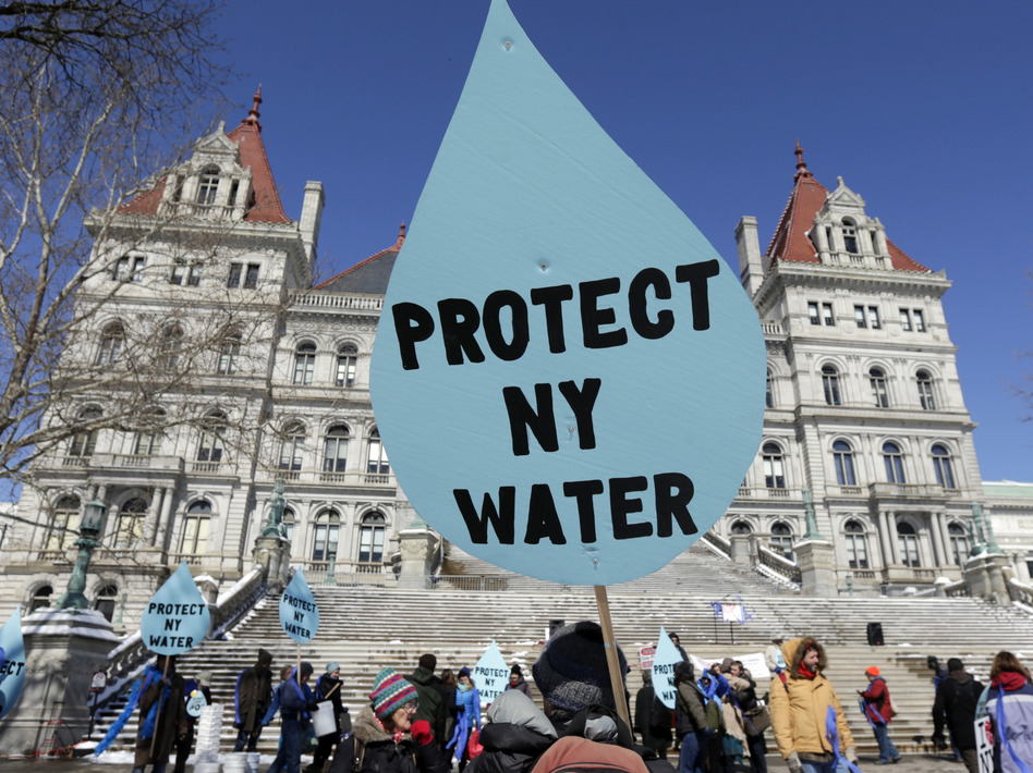 After years of protests against the Constitution Pipeline, New York recently denied a key water quality permit for the project. A new EPA rule would make it harder for states to do that. (Mike Groll/AP)