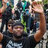 The violence erupted as outrage over George Floyd's death during the week