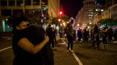 Protesters In D.C. Were Met With Heavy Police Presence And Helicopters After Curfew