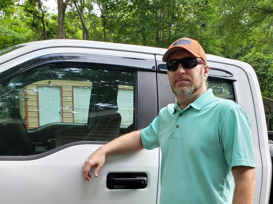 Jonathan Baird and his wife, Nichole, say they've had to decide between making their car payment and buying food since she lost her job in the pandemic. His mortgage and auto lenders told him he didn't qualify for help. (Nichole Baird)