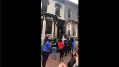 D.C. Protesters Hail The Hero Of Swann St., Who Sheltered Them From Arrest
