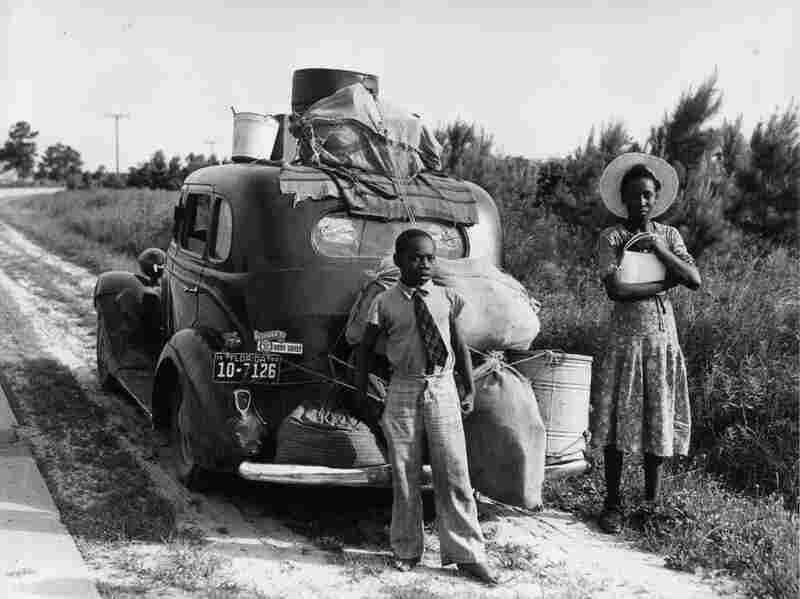 An African American family leaving Florida during the Great Migration.