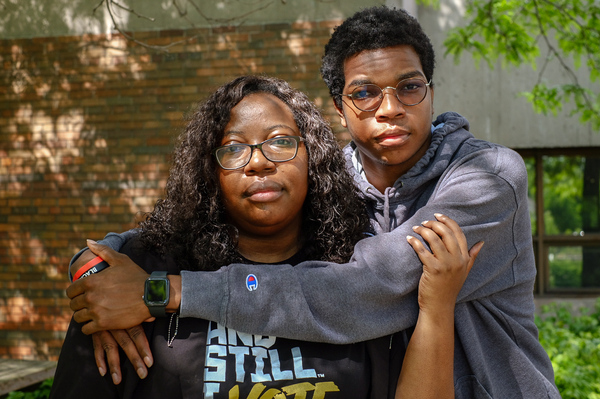 Minnesota state Rep. Ruth Richardson and her son, Shawn, stand outside the Hallie Q. Brown Community Center in St. Paul, Minn. She represents areas south of St. Paul, about 15 miles from where George Floyd was killed.