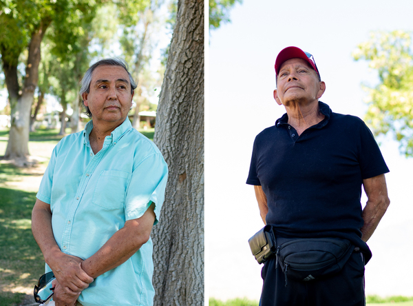 David (left) and Sky Gonzalez have been unable to visit their mother, Eva, in her nursing home since the onset of COVID-19 quarantine measures.