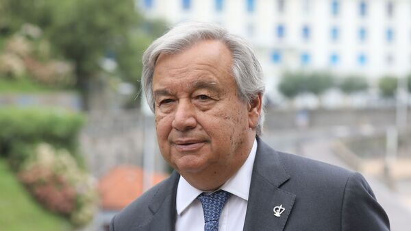 """United Nations Secretary-General António Guterres says """"there was no unity around the world in the strategy to fight the pandemic."""""""
