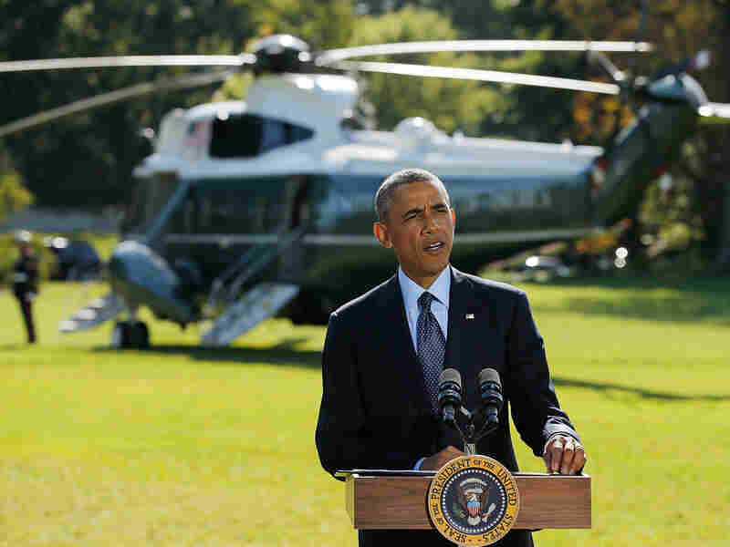 President Barack Obama makes a statement on recent U.S. and allied airstrikes against the Islamic State in Syria from the White House South Lawn September 23, 2014 in Washington, DC. President Obama heavily relied on executive powers throughout his two terms.