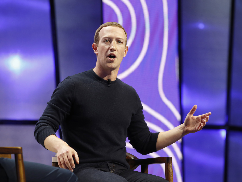 CEO Mark Zuckerberg's hands-off approach to President Trump has set off a public revolt among Facebook employees that is the company's biggest challenge this year. (George Frey/Bloomberg via Getty Images)