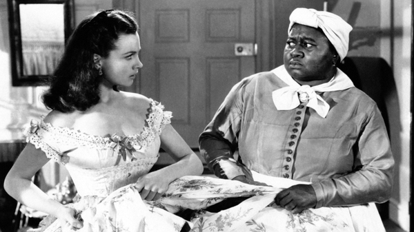 Vivien Leigh and Hattie McDaniel, as Scarlett O