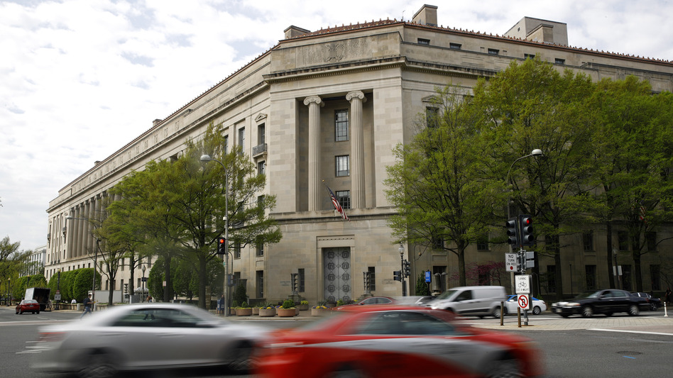 The Justice Department in Washington, D.C., is pictured in April 2019. Federal prosecutors in the Southern District of New York are moving to drop a case nearly three months after a conviction. (Patrick Semansky/AP)