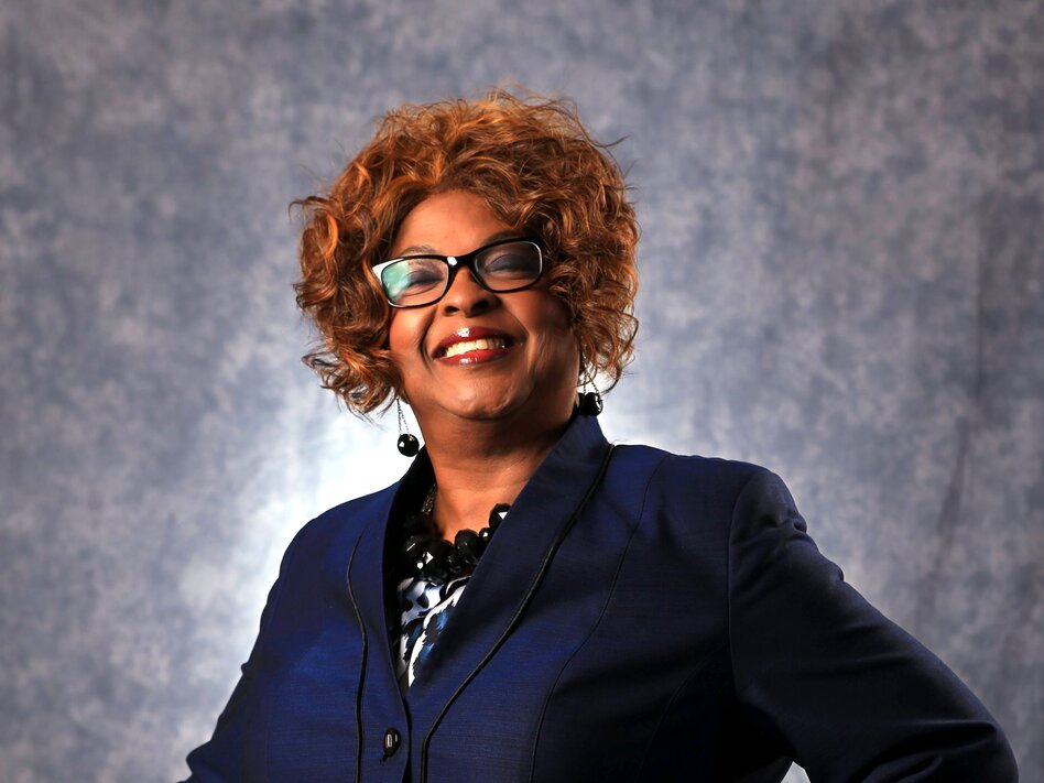 Ella Jones, photographed in March of 2015, when she was a candidate for Ferguson's city council, became the Missouri city's first African American and first woman elected mayor of Ferguson. (Christian Gooden/St. Louis Post-Dispatch/Tribune News Service via Getty Images)