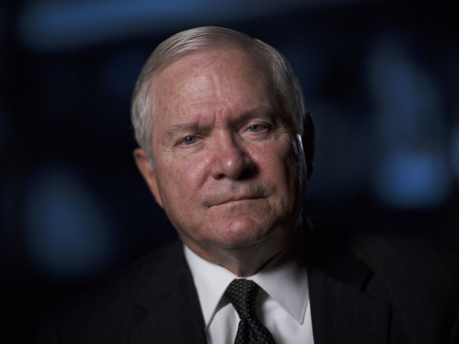 """Robert Gates is interviewed for """"The Spymasters"""" on Dec. 15, 2014. (David Hume Kennerly/Getty Images)"""