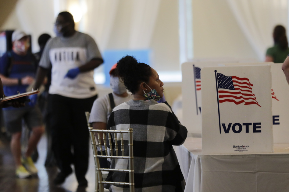 There's little consensus on what needs to be done by November. Democrats would like to send every voter a mail-in ballot and extend deadlines for getting them in. Republicans insist that would lead to fraud and undermine the integrity of the election. (Brynn Anderson/AP)