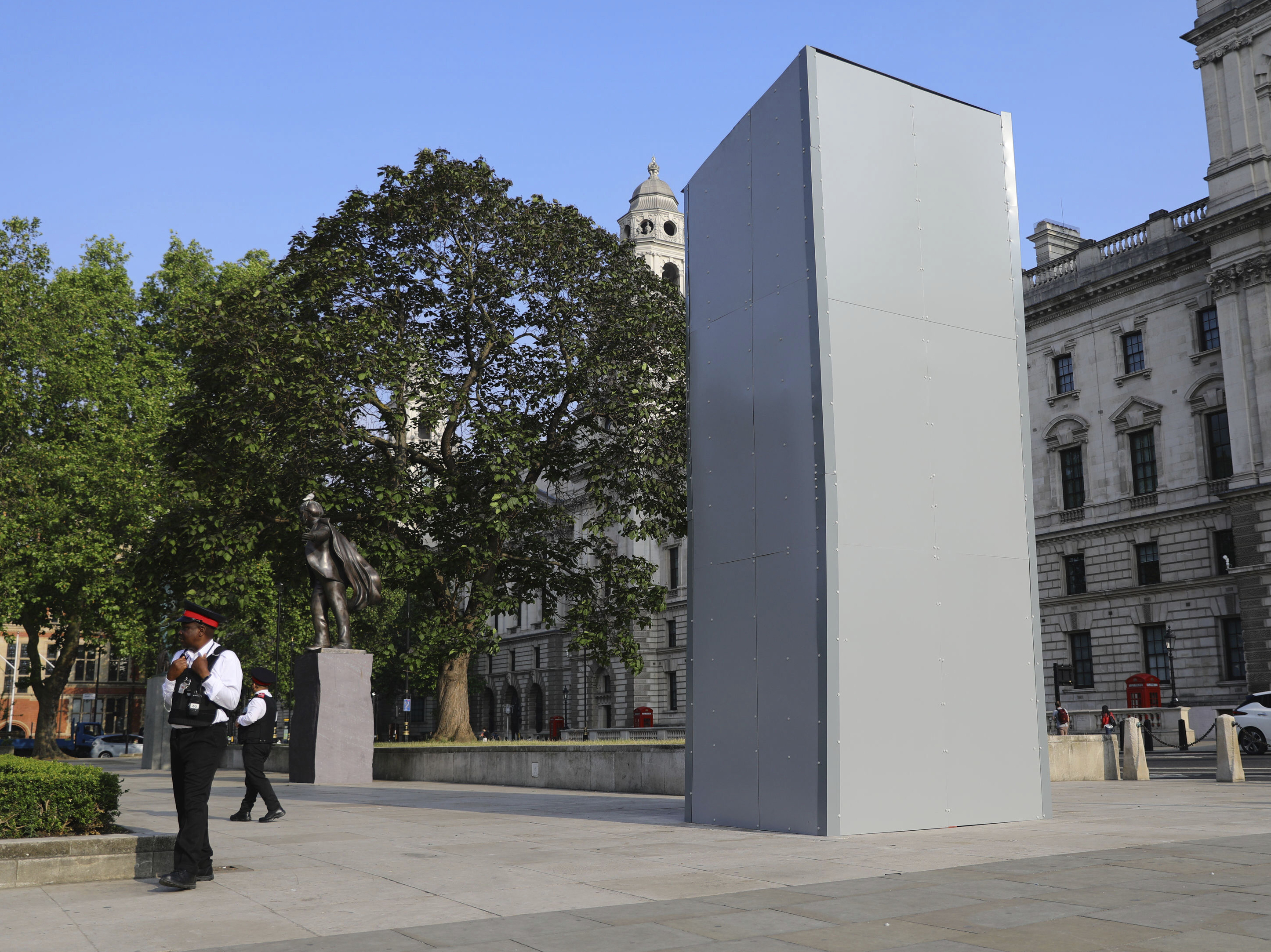 Statue Of Winston Churchill Is Covered Up In London : Updates: The Fight  Against Racial Injustice : NPR