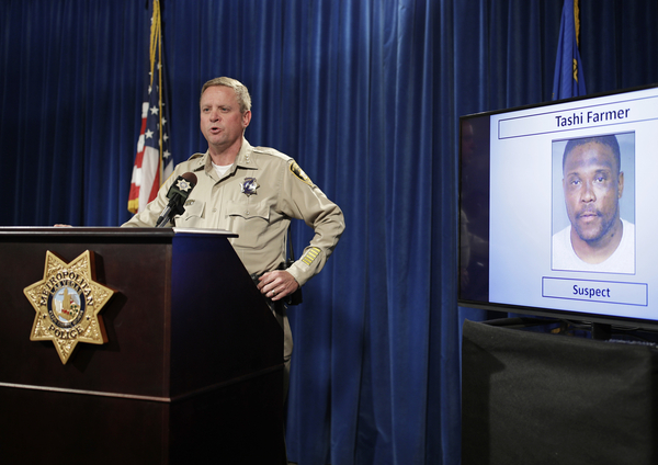 Las Vegas police Undersheriff Kevin McMahill speaks in Las Vegas on May 17, 2017, after the death of Tashii S. Brown, known as Tashii Farmer-Brown. Police had used a stun gun and a chokehold on him. In a change announced in September 2017, Las Vegas police officers can no longer routinely use neck restraints to render combative people unconscious.