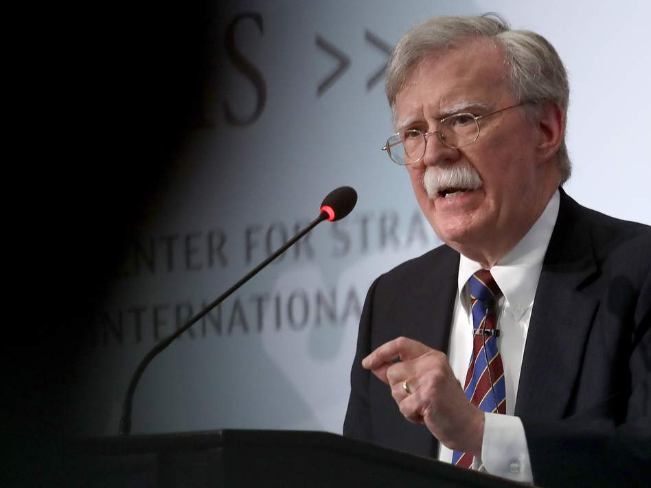 Former U.S. national security adviser John Bolton speaks in September at the Center for Strategic and International Studies in Washington, D.C. (Win McNamee/Getty Images)