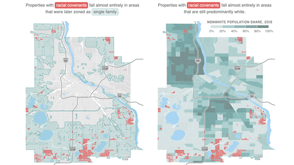 Map of racial covenants, zoning, and demographics