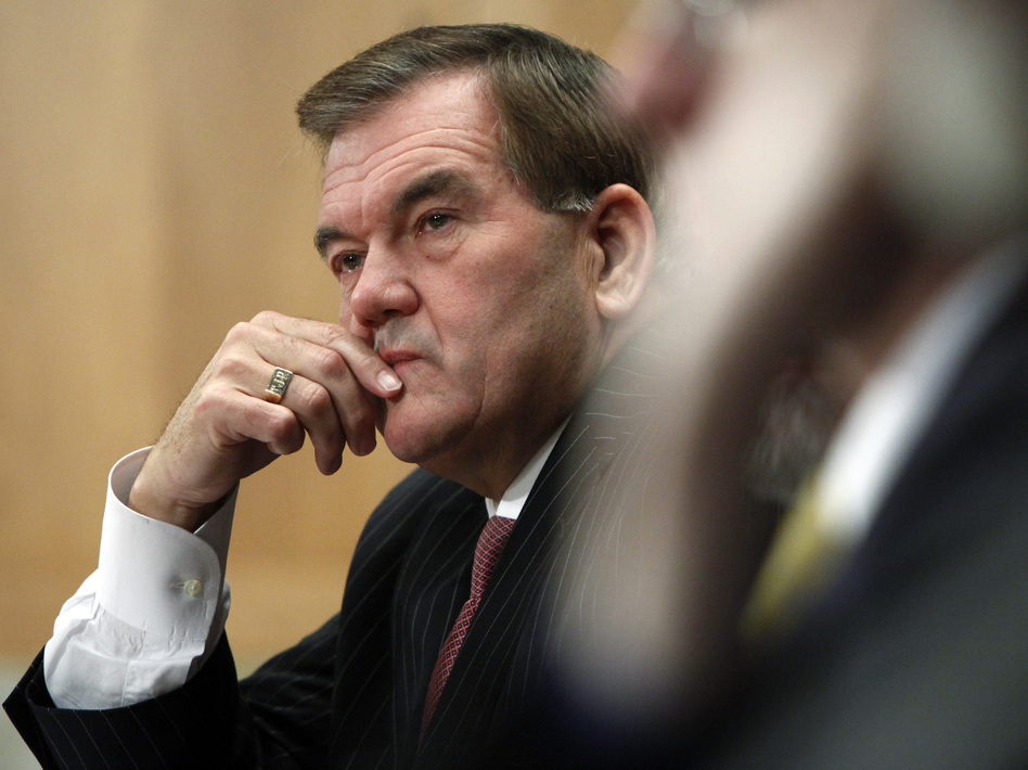 Former Pennsylvania Gov. and Homeland Security Secretary Tom Ridge lamented President Trump's denigration of voting by mail because Ridge says it may wind up hurting Republicans. (Haraz N. Ghanbari/Associated Press)