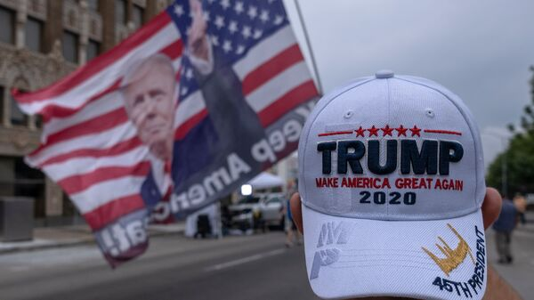 Supporters of President Trump camp near the BOK Center on June 19 in Tulsa, Oklahoma ahead of his rally, the first held since the outbreak of the coronavirus pandemic.