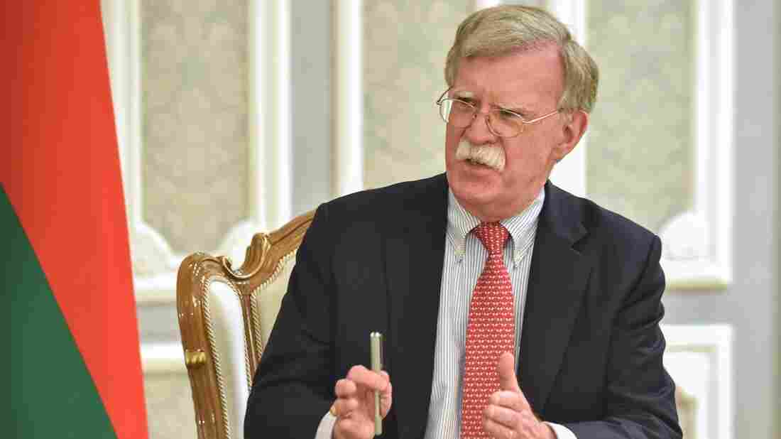 Trump chided Bolton in the desire to wage war