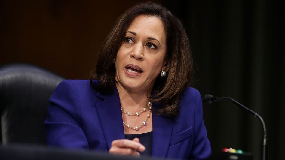 California Sen. Kamala Harris topped a recent survey asking respondents for their preferred running mate for Joe Biden. (Jonathan Ernst/Pool/AFP via Getty Images)