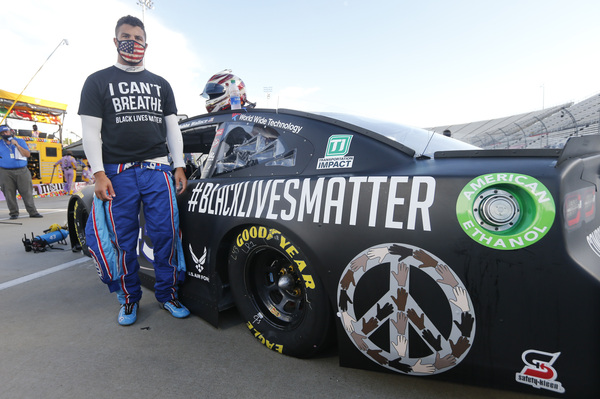 The only Black driver in the top stock car racing circuit, Bubba Wallace had led the campaign to ban Confederate flags from NASCAR events.