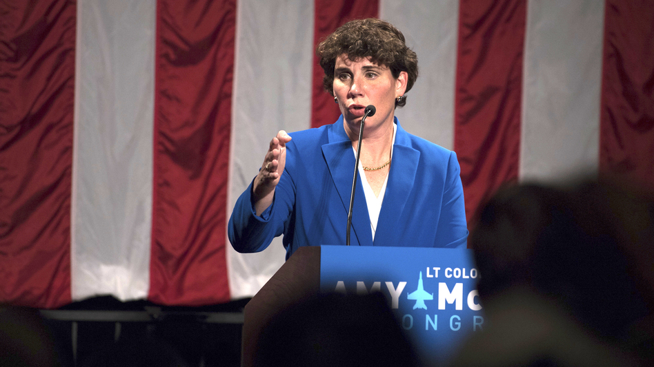 Retired Marine fighter pilot Amy McGrath will face Senate Majority Leader Mitch McConnell in the general election. (Bryan Woolston/AP)
