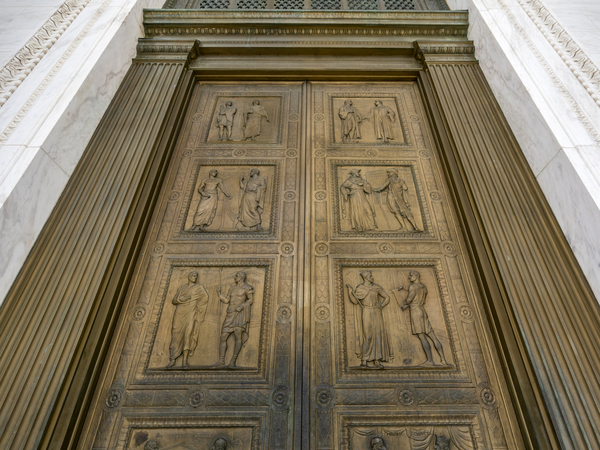 The bronze doors of the Supreme Court