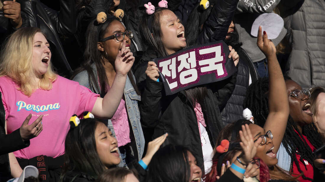 K-pop fans in New York City's Central Park on May 15, 2019.